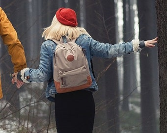 Canvas Backpack Women, Laptop Backpack, Cool Backpack, College Backpack, Nylon Backpack, Gifts For Girlfriend, Canvas Bags For Women
