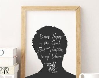 """Childish Gambino """"Being Happy"""" Art Print"""
