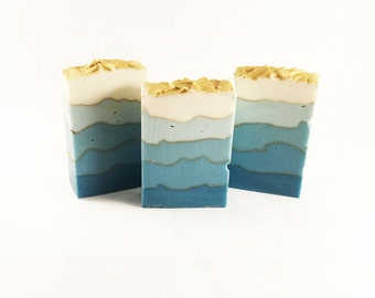Blue Sky Cold Process Artisan Soap, Small Batch Soap, Vegan Soap
