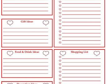 Valentine's Day Planner Printable