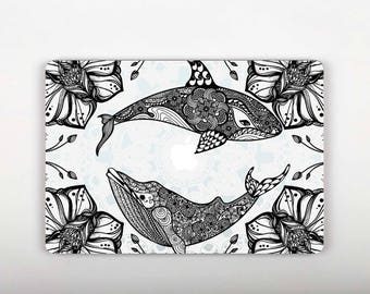 Whales Cover Laptop Sticker for Macbook 12 Mandala Vinyl Decal Retina 13 Inch Retina 15 Inch Pro 13 Skin Protection Apple 12 Mac Skin RS063