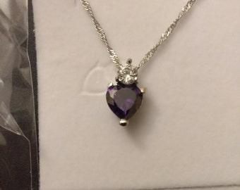 Nice Woman's Purple Heart Necklace.
