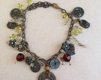 Vintage Incredible Asian-Influence Charm Bracelet