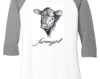Cow, Farmgirl White Shirt