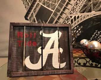 Alabama University Roll Tide Wooden Sign
