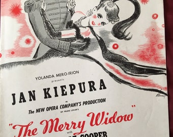 3 1940's The Merry Widow Theater Programs