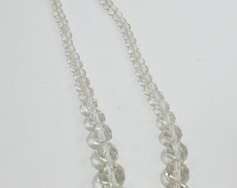 Beautiful Cut Glass Single Strand Necklace