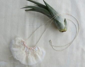 MARI Fibre Art Pendant Necklace