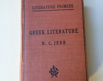 Greek Literature (1890s) - Handstitched Upcycled Journal / Vintage Notebook / Scrapbook