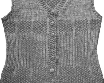 Fence Post Vest PDF Knitting Pattern