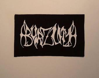 Burzum old logo patch black metal Varg Vikernes Mayhem