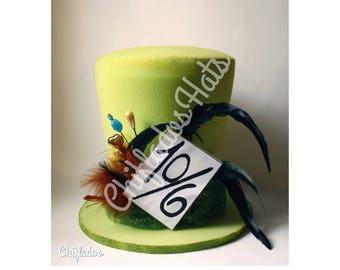 Mad Hatter Costume  Alice in Wonderland Hat Disney Party Top Hat