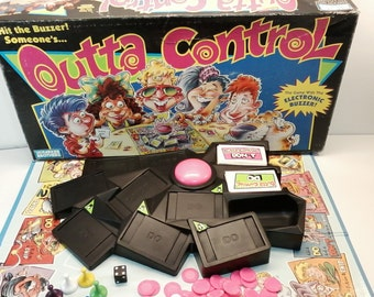 Outta Control Game 1992 by Parker Brothers The Game with the Electronic Buzzer Complete