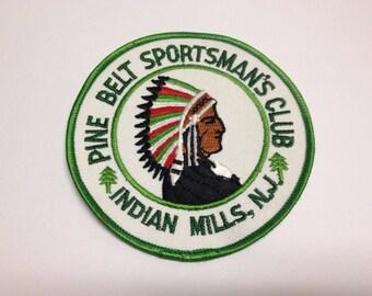Vintage Pine Belt Sportsman's Club Indian Hills New Jersey Gun Club Patch