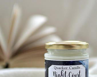 Night Court -soy candle inspired by book, soy candle, bookish candles, literary candle, gift, ACOMAF, book lover, Maas, book candles