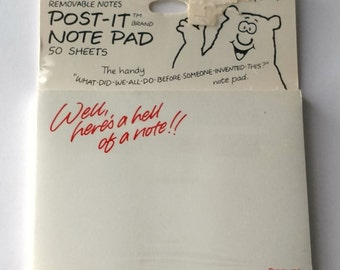"""Vintage Hallmark Cards, inc Post-It Note Pad 