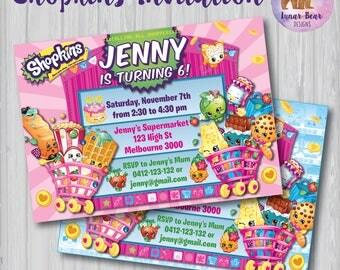 Shopkins Invitation, Shopkins Invite, Shopkins Party, Shopkins Birthday Party, Shopkins Printable Shopkin Shoppies Shopkins Party Invitation
