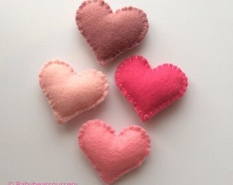 Small Heart Felt Nursery Garland