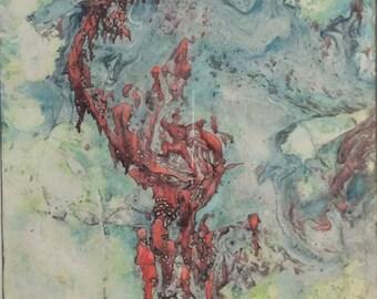 oil painting, surrealistic oil painting, surrealism painting, surreal art, fantasy painting, Original oil painting, Zwia Aziz