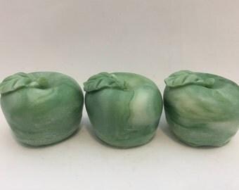 Apple Soap | Handmade Apple Soaps, Teacher Gift, Handmade Bar Soap, Gift Soap, Green Soap, Red Soap, Blue Soap