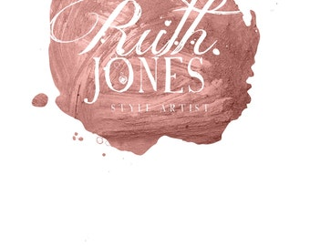 Makeup Artist Logo , Premade Logo, Rose Gold Logo, Feminine Logo, Blog Logo, Branding