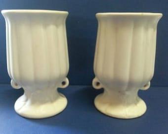 Pair of Vintage Ceramic Urn Vases