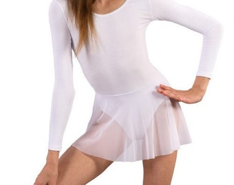 Long sleeve Leotard with skirt