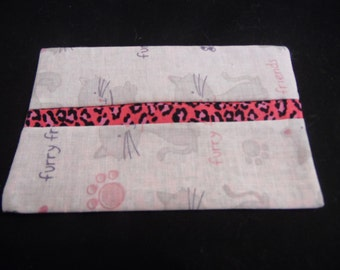 Fabric Tissue Holder, Furry Friends Cat Fabric, Pocket Tissue Holder-Cover