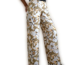 Trousers floral/black