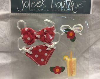 Jolee's Boutique Red Bikini Stickers, Beach Stickers