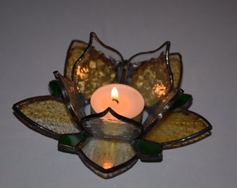 Stained Glass Tea Light Holder