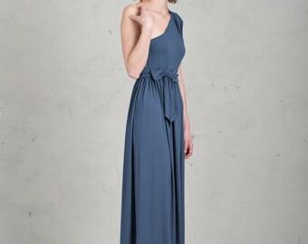 Long Bridesmaid Dress - Linnea, Blue