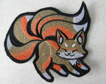 Kitsune Iron-on Patch // Iron on Patch // Embroidered Patch