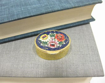 Vintage Italian Micro Mosaic Pill Box