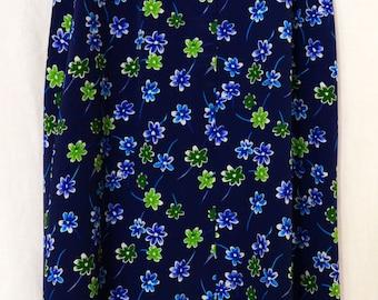 Vintage 90s Floral Skirt, STAR c.c.c