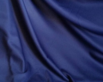 Blue satin tricot, silky knit, shiny,knit, Width 62 inches, Length 92 inches