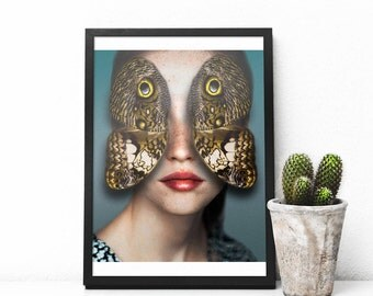 Butterfly Print - Butterfly Poster - Eyes - Wings Art - Wings print - Butterfly Wings Art
