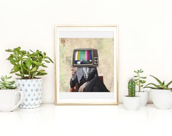 Telly Print - Telly Wall Art - Television Poster - Television Print - TV Print - TV Wall Art - TV Poster - We Don't Believe What's on tv
