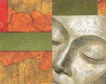 Buddha Collage Card