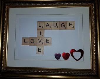 Live, Laugh, Love frame