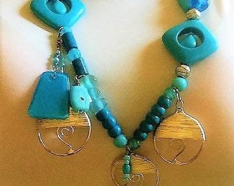 Blue Steel Necklace