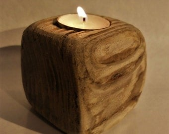 Driftwood Tealight Holder