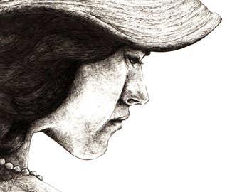 A Lady (print)