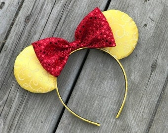 Belle Ears - Disney Ears - Beauty and The Beast Ears - Minnie Ears - Mickey Ears