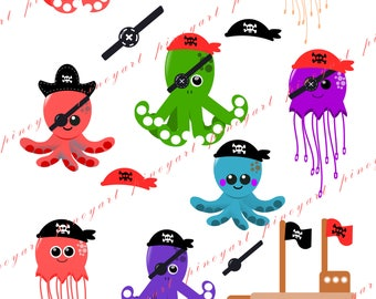 Octopus Clip Art,Octopus Clip Art,0ctopus Pirate Clip Art,Octopus Vector,Octopus PNG,Jellyfish Clip Art,Octopus Svg File,Octopus svg