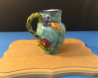 Hand Painted Capo di Monte Numbered Vase