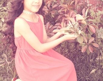 Annabelle Choker - Flowers Teal