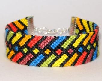 Friendship Bracelets - rainbow - macrame -handwoven