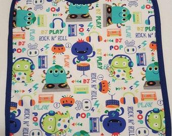 Adult Baby Bib Monsters Print ABDL