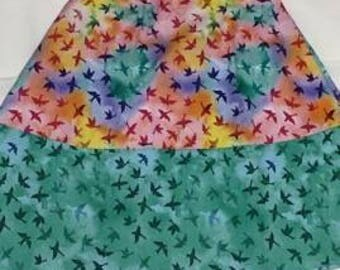 Rainbow/birds Sun Dress